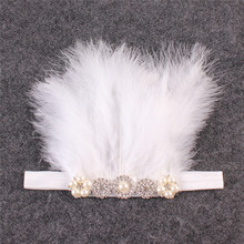 Delicate Girls Headbands with Feather Multi Styles Sparkly Rhinestone Button Kids  DIY Crafts Hair Accessories