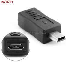 1Pc Micro USB Female to Mini USB Male Adapter Charger Adaptor Converter Black Wholesale Cheaper #H029#
