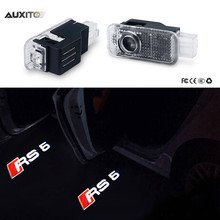 2x LED Car Door Logo Light Ghost Shadow Projector Lamp For Audi A1 A3 A4 A6 A5 A7 A8 80 TT Q3 Q5 Q7 C5 C6 B5 B6 B7