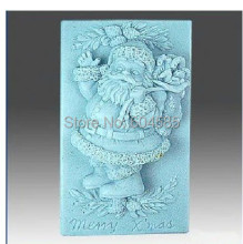 Christmas Santa Clause 0837 Craft Art Silicone Soap mold Craft Molds DIY Handmade soap molds(China)