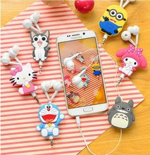Good Gift 3.5mm Cartoon Earphone headphone headset earbuds retractable headphones For Samsung Xiaomi HTC MP3 MP4