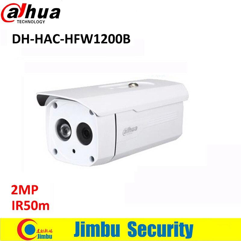 DAHUA HDCVI 2MP Bullet Camera CMOS 1080P IR 50M IP66 HAC-HFW1200B security camera DC12V 1920(H)x1080(V)<br>