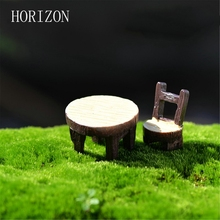2Pcs/lot Desk Chair DIY Resin Fairy Garden Craft Decoration Miniature Micro Gnome Terrarium Gift(China)