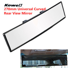 KOWELL 270mm Universal Curved AntiGlare Clip On Inside Rear View Mirror Car Wide Vision Interior Mirrors Rearview Mirror Glass(China)