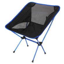 Folding Chair Beach Seat Lightweight Seat For Hiking Fishing Picnic Barbecue For Vocation Casual Camping Fishing Deep Blue