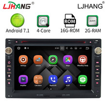 "LJHANG 7"" 2 DIN Android 7.1 Car DVD GPS Radio For Volkswage VW Passat B5 Bora Polo GOLF MK3 Mk4 TRANSPORTER T5 T4 2GB Multimedia(China)"