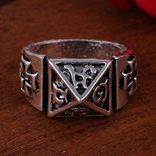 2017 Punk Vintage Trend Man's Ring Gothic Men's Cross Biker Zinc Alloy Ring Man Fashion Rings Free Shipping sa1055(China)