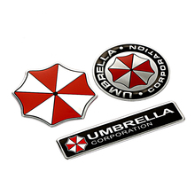 3D Car Stickers Aluminum Umbrella Corporation Resident Evil Decals Emblem For BMW AUDI VW Volkswagen Ford Focus 2 3 toyota