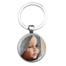 Personalized Photo key chains Custom Keychain Photo of Your Baby Child Mom Dad Grandparent Loved One Gift for Family Gift(China)