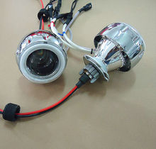35w 2 inch Hid Bi xenon Projector Lens Kits wiht  CCFL Angel Eyes Devil Eyes for model ABC Motorbike