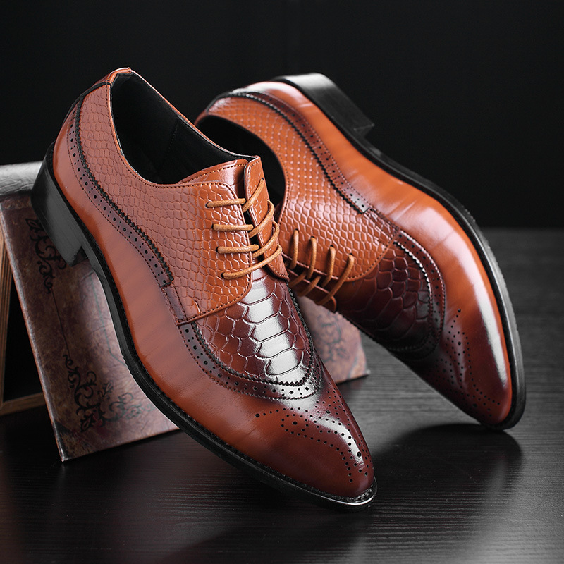 Dress shoes men plus size 37-48 lace-up old skool waterproof derby shoes fashion spring/autumn retro casual shoes<br>
