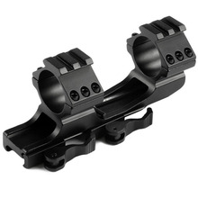 Quick Release Scope Mount 25.4mm/30mm Cantilever Scope Picatinny Weaver Single Top Side Rail Ring Rifle Scope