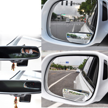 2PCS Universal Auto Side 360 Wide Angle Convex Mirror Car Vehicle Blind Spot Rearview RearView Mirror Small Mirror(China)