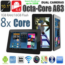 "Free Shipping 2016 Gift Tablet PC 10""  Octa Core 16GB Boda Keyboard ANDROID Lollipop 5.1 TABLET PC CAPACITIVE PAD TAB  Bluetooth"
