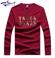 Original Brand Tace Shark T Shirt Men Long Sleeve New Fashion 2016 Men's Brand Clothing Casual O-neck T shirt Homme Tees