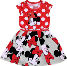 Minnie Mouse Dress Minnie Dresses Girl Cotton Cartoon Dot Summer Dress Baby Princess clothes robe(China)