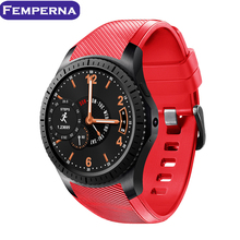 Femperna GW11 Bluetooth 1.3 inch Ultra Thin Screen Smart Watch Phone Support Nano SIM Card Wifi GPS Map Pedometer(China)