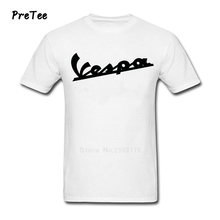 Vespa Male T Shirt 100% Cotton Men Short Sleeve Round Neck Vespa Tshirt Men's Costume 2017 New Vespa T-shirt For Adult