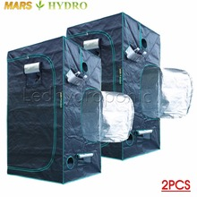 2PCS 1680D Marshydro Indoor Hydroponics grow tent 100*100*180cm ,Grow kit,Completely LED Indoor Growing System(China)