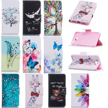 Luxury PU Leather Back Cover Case Protective Shell For Huawei Y5 2 II Clamshell Wallet Flip Phone Case With Card Holder