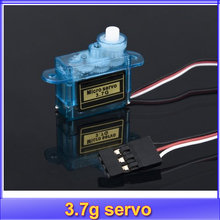 4pcs/lot 3.7g Mini Micro Servo RC plane Helicopter Boat Car+Free shipping(China)