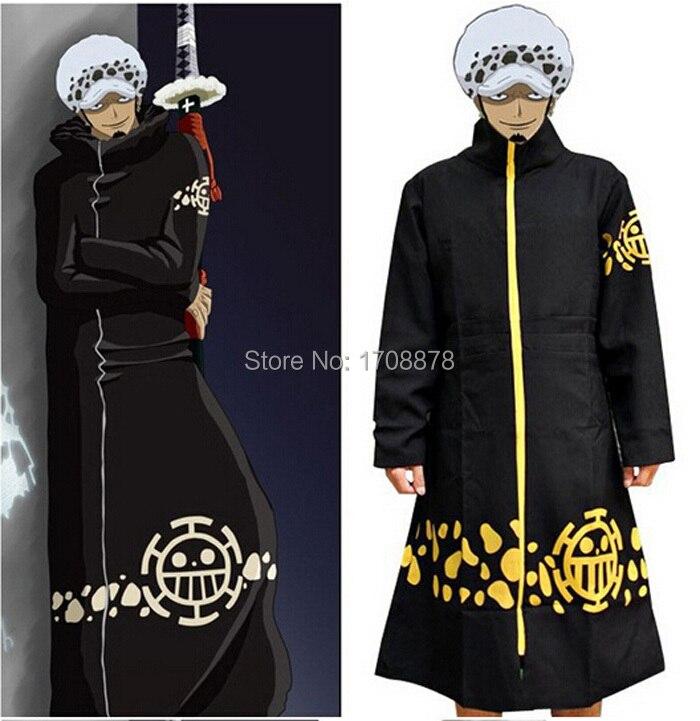 Anime One Piece Trafalgar Law Robe Cloak Cape Coat Jacket Cosplay Costume Gift