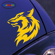HotMeiNi 11.5*13.3CM 10 Color Wild Animal Car Sticker Wolf Head Pattern Cool Car Motorcycle Reflective Decals Vinyl Accessories(China)