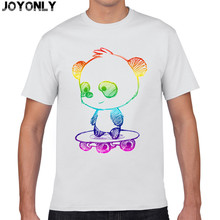 Joy Only Men's 100% Cotton Short Sleeve 3d t shirts Colorful Galaxy Cartoon Panda Hip Hop t-shirt Summer Clothing Tee Tops TA54