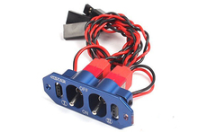 F08026 Brand Heavy Duty Metal Dual Power Switch No Fuel Dot Blue for RC Helicopter Car Boat Aircraft Engine Part
