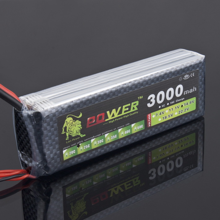 1pcs Lion Power lipo battery 14.8v 3000mah 25c for rc helicopter rc car rc boat quadcopter remote control toys<br>