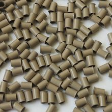 500pcs 4.0*3.6*6mm Medium Blonde Flared Euro Lock Copper Tubes Micro Rings Links Beads for 1g Stick I Tip Human Hair Extensions