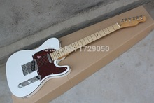 Chinese musical Instruments Factory custom  New white telecaster guitar electric guitar red Pick Guard free shipping