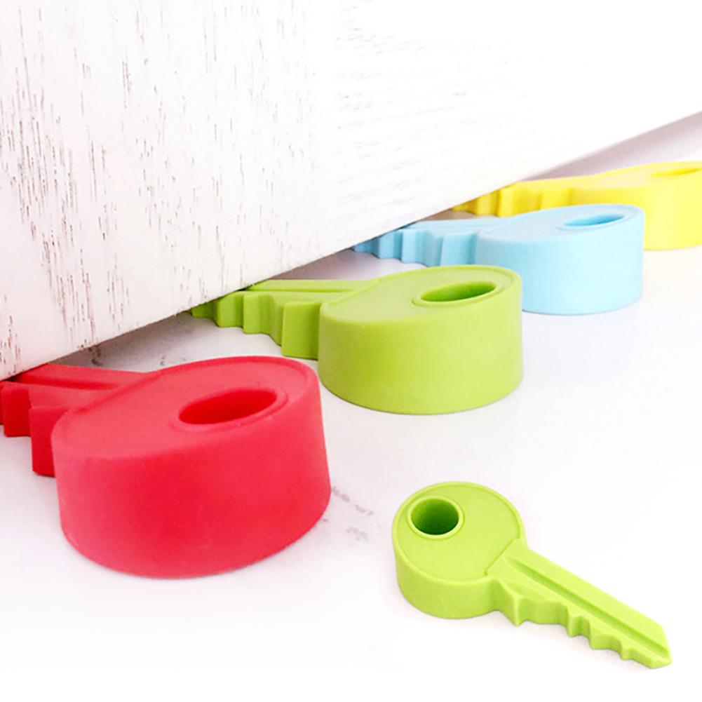 1pc Baby Silicone Key shaped Door Stopper Children Kids Jammers Holder Lock Safety Protect Jammer Finger Corner Guards Q2<br><br>Aliexpress