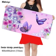 Free Shipping Butterfly Large Game 900*400 High Quality with Edge Locking Speed Version Game Keyboard Animal Mouse Pad for Gamer