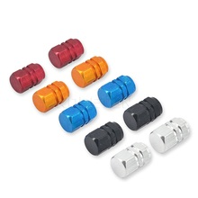 4Pcs/Lot Bicycle Car Wheel Tire Valve Cap Hexagonal Air Stems Cover Ventile Tyre Dust Cap Rims Car Wheel Styling Round