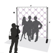 8'x8' Step And Repeat Backdrop Telescopic Pop Up Banner Stand System For Trade Show(Free Shipping to UK)