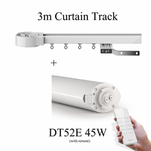 Original Ewelink Dooya Electric Curtain Motor DT52E 45W 220V + 3m Curtain Track for Smart Home System With Remote Control 2700(China)