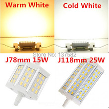 Dimmable R7S led 15W 25W SMD5730 78mm J78 118mm J118 LED bulb light lamp AC85-265V replace halogen floodlight