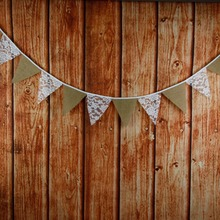 5sets/lot Tri-angle bunting linen pennant banner burlap jute flag wedding church christmas decor event suppliers