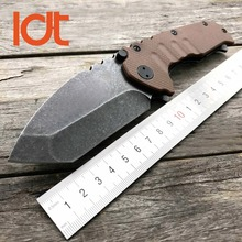LDT OEM Praetorian TG01 Folding Knife 9CR18MOV Blade G10 Steel Handle Tactical Knife Pocket Camping Knives Survival Tools EDC(China)