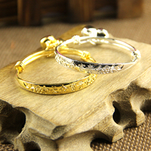 2PCS,Baby with bells bracelet/bracelet plated silver/ plated18K gold Kid Baby Boy Girls Bracelet jewelry Free shipping