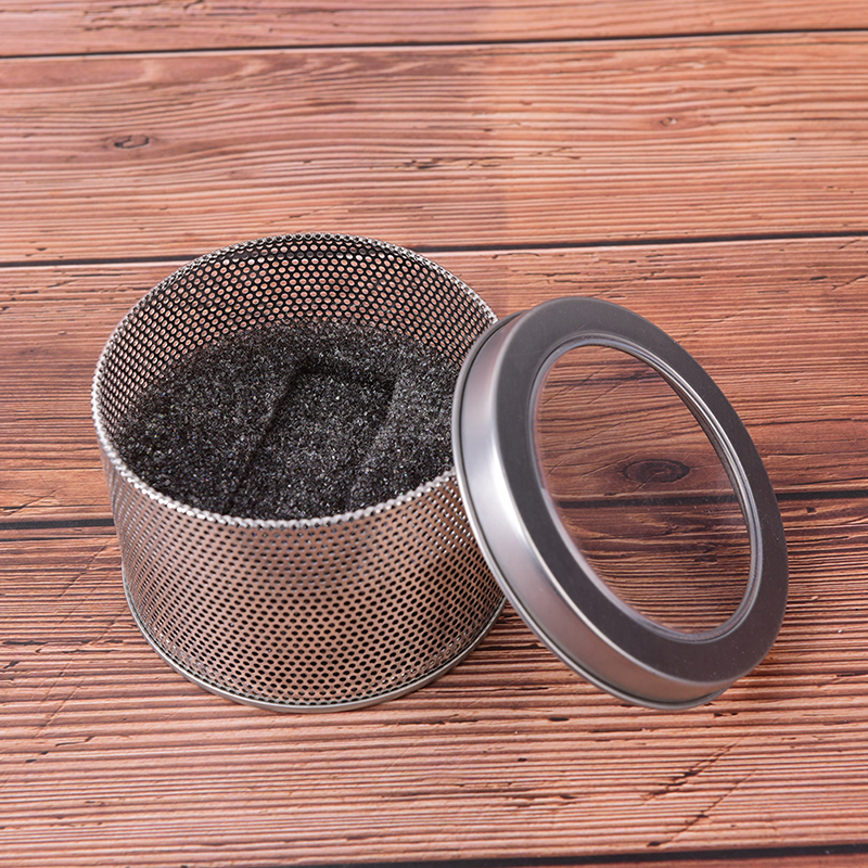 Round Storage Watch Box Winder Jewelry Nice Sponge Organiser Chic Practical Silver Case Tin Display Gift Stylish
