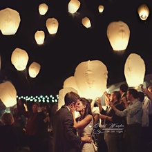 80pcs/lot SKY Balloon Kongming Wishing Lanterns Flying Paper Lantern Light Wedding Lights Chinese Sky Paper Lantern