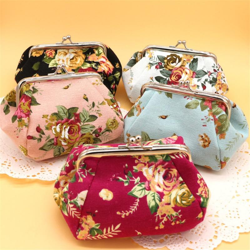 Wholesale 10pcs/lot Coin Purse Women Girls Lovely Flower Shape Hasp Change Purse Elegant Small Key Money Bag Case Pouch Wallet<br><br>Aliexpress