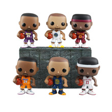 9cm NBA Basketball Sports Star Doll Kobe Bryant LeBron James Stephen Curry Model Q Version Boxed Toys PVC Action Figures GH220
