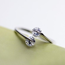 Free shipping! Wholesale 925 silver sterling Zircon engagement rings female fashion Jewelry nice gift for women crystal ear ring