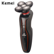 Kemei Washable Shaving Machine Rechargeable Shaver Mens Electronic Razor Floating Facial stylers Mens Face Shavers Clean Shave(China)