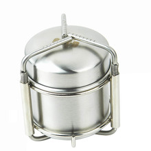New Portable Outdoor Stoves Stainless Steel Mini Ultra-light Spirit Burner Alcohol Stove Camping Stove Furnace with Stand(China)