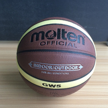 Offical Standard Size 5 Molten Teenager Basketball Balls GW5 High Quality PU Leather Outdoor Indoor Basketball Ball With Pin