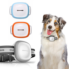 Mini Pet Collar GPS Tracker long standby time dog cat Pet personal gps tracker free App website service LED Night Light Wifi+GPS